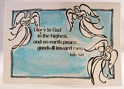 this christian christmas greeting card uses another part of the same scripture passage this was the praises offered unto god by the multitude of the - Christian Greeting Cards