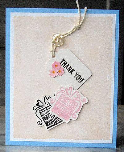 Baby Shower Thank You Notecard
