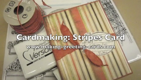 stripes handmade card video