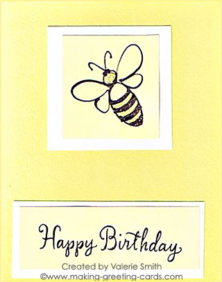 yellow happy birthday card