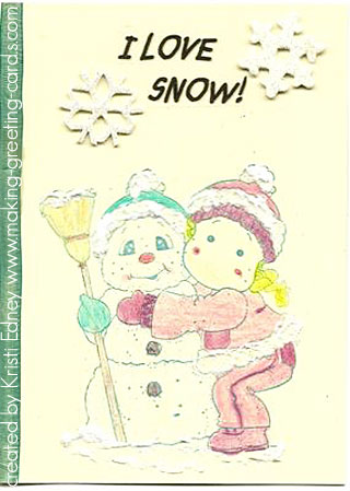 i love snow christmas card