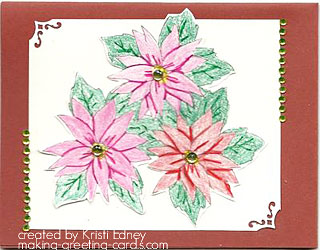 christmas flower card by kristi edney