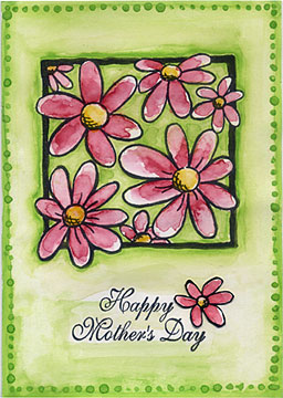 Bright Mother Day Flowers Card