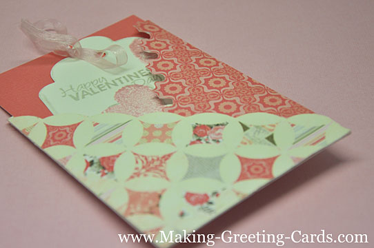 folded valentines day card