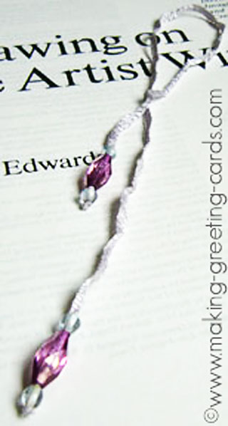 beads ribbon bookmarks