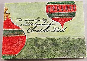 christian christmas card - religious christmas card