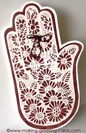 henna tattoo hand card