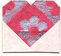 origami heart card