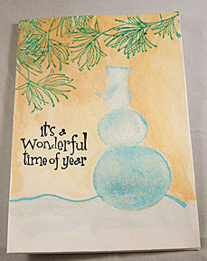 snowman christmas cards - penny black rubber stamps