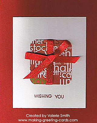 red color wishing you a merry christmas card
