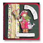 decorate the season greeting card