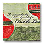 christian christmas card with bible verse