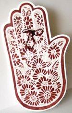 henna hand tattoo card