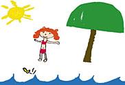 child drawing/Child Drawing Invitation