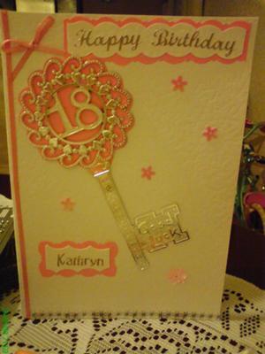 18th Birthday Card for Kathryn
