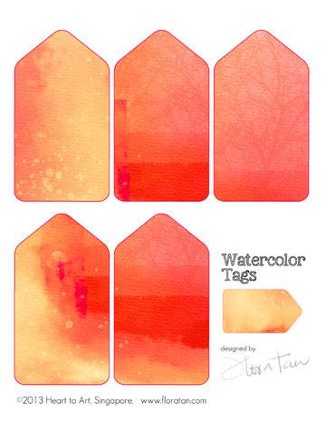 watercolor tags/Watercolor Tags - Digital Download