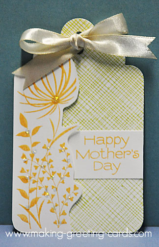 mothers day tag/Yellow Mother's Day Tag