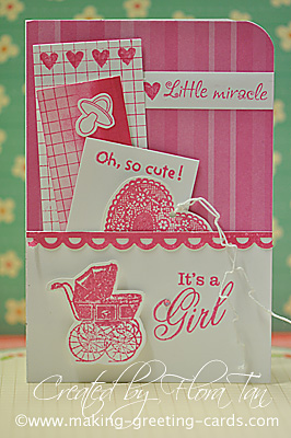 It's A Girl Baby Card