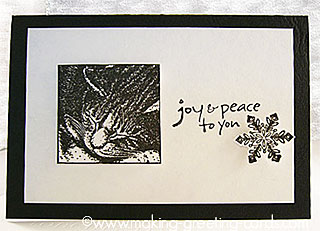 cat christmas card - black and white design