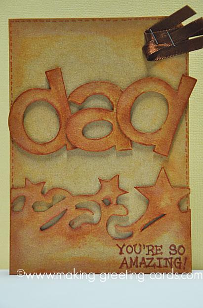 cricut amazing dad card/Cricut Father's Day Card