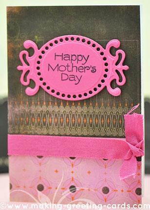 die cut card for mom/Happy Mother's Die Cut Card