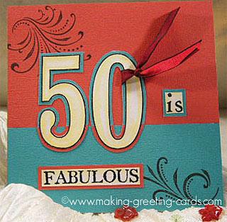 50th birthday card/Happy Fabulous 50th