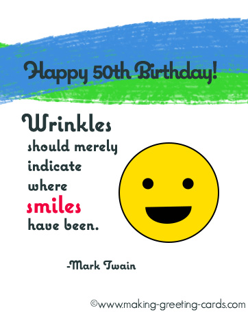 50th birthday quote