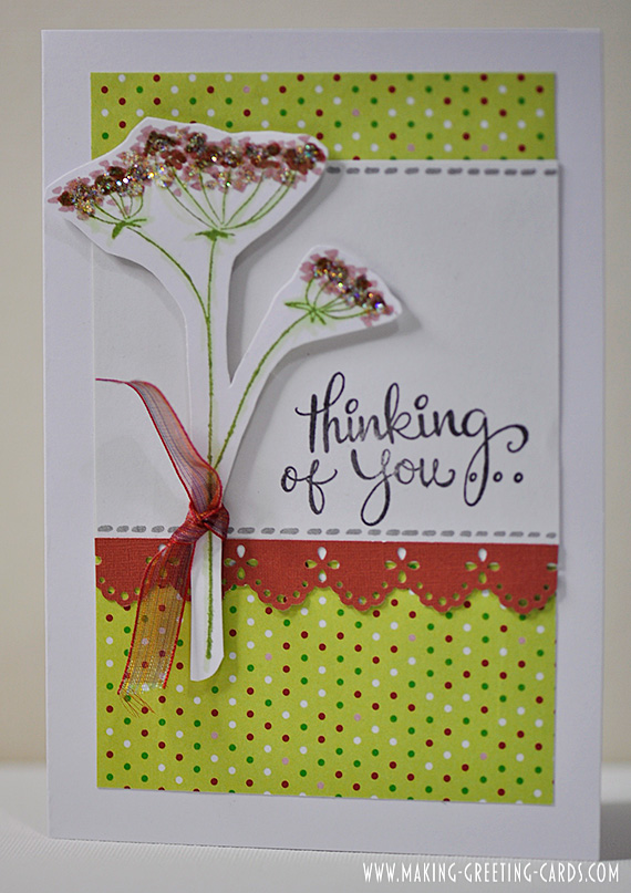thinking of you card/Flower Thinking of You Greeting Card