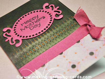 die cut card/Happy Mother's Day Die Cut Card