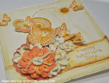 happy mothers day/Flowers & Butterflies Mother's Day Card