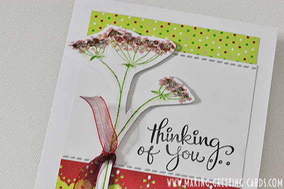 thinking of you card/Glitters on Thinking of You Card