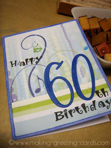 60th Birthday Card Musical Front Of