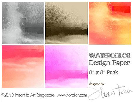 watercolor design paper/Watercolor Design Paper