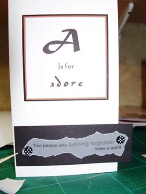 ADORE - A Wedding Card