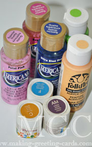 cardmaking supplies/Acrylic Paints