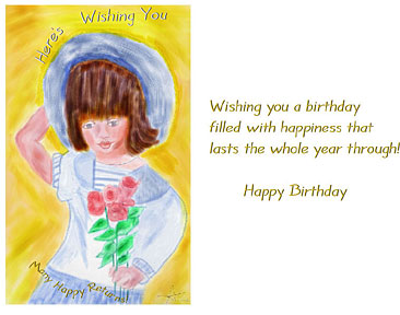 inside of anna's birthday card