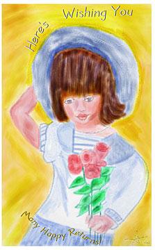 Anna's children of the world card