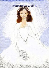 back of Anna's handmade wedding card