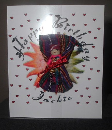 art doll birthday card