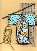 kimono rubber stamp card