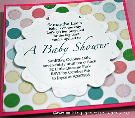 sweet baby shower invitation