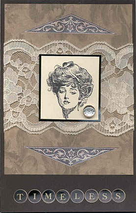 gibson girl card/Timeless