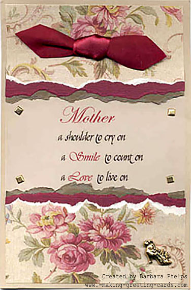 happy mother's day card/Mother's Day Card by Barbara Phelps