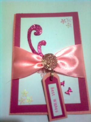 Best Wishes Handmade Greeting Card