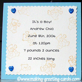 birth announcement card/Birth Announcement #3