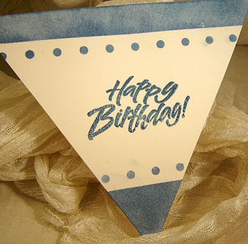 triangle shaped birthday greeting card