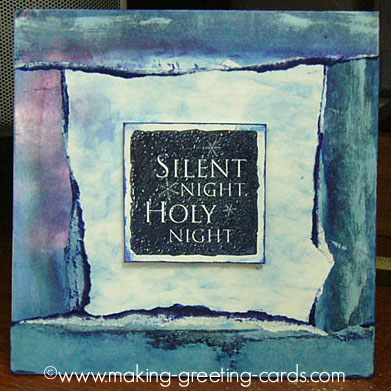 blue christmas card/Silent Night Holy Night