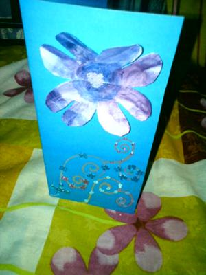 beads and flower card