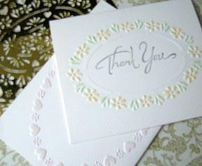 homemade spring cards using brass stencils