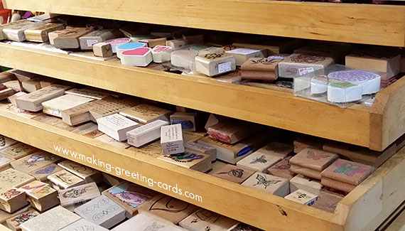 greeting card making/Storage for Rubber Stamps